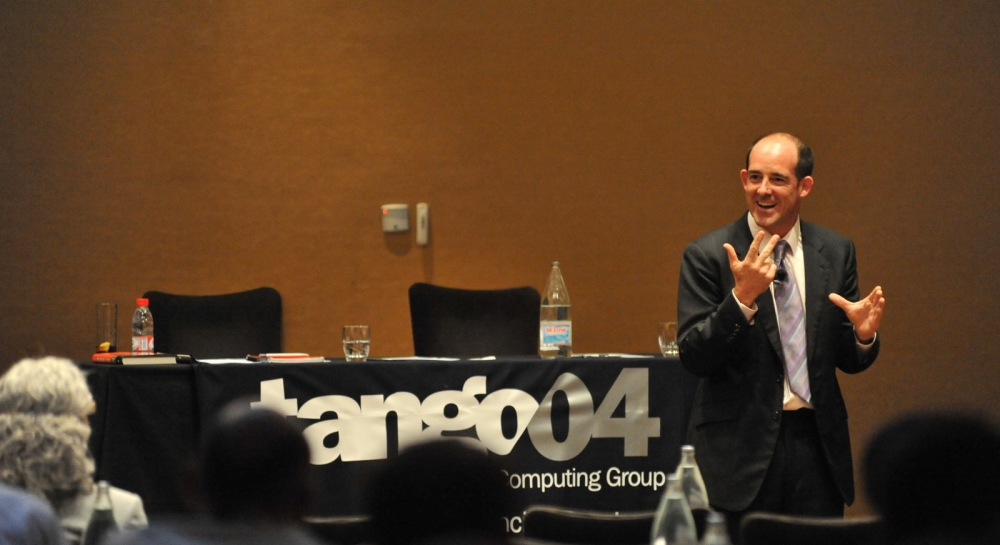 Conor Neill at the Tango04 Monitoring Symposium